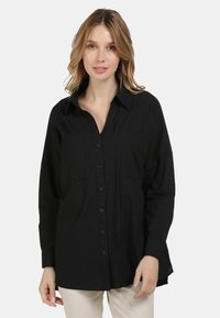 usha - BLUSE - Button-down blouse - schwarz - 0