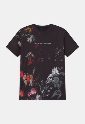 WARPED FLOWER - T-shirt print - black/multi