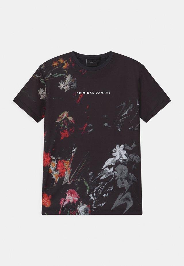 WARPED FLOWER - T-shirt print - black/multi