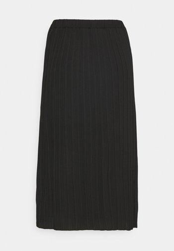 ABBYGAIL SKIRT - Pleated skirt - caviar