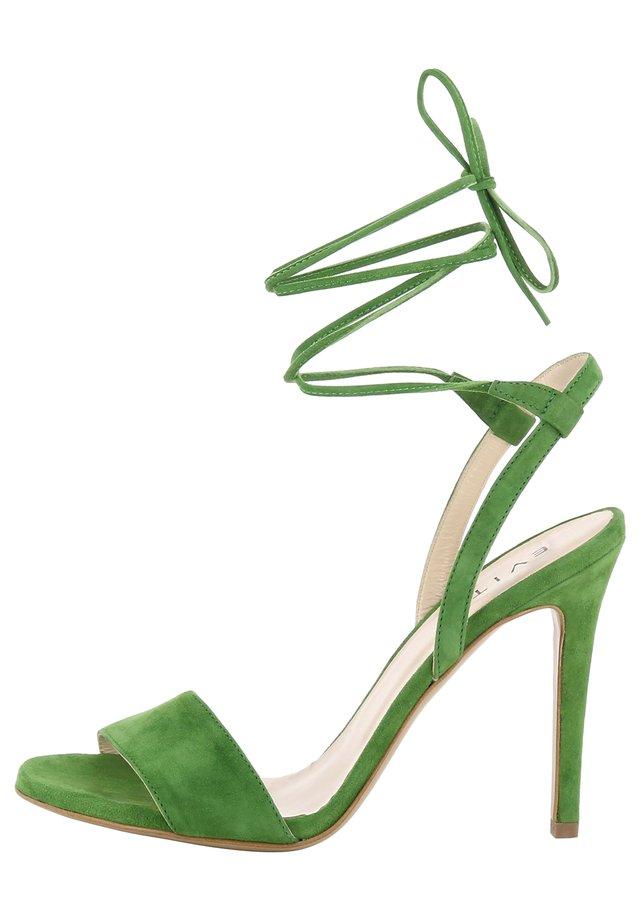 Sandali con tacco - grün