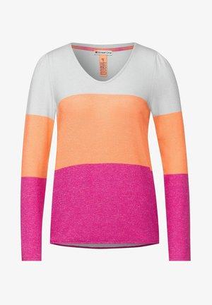 MIT COLOURBLOCK-DESIGN - Long sleeved top - orange