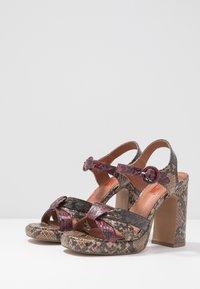 Topshop - RIPPLE PLATFORM - High heeled sandals - natural - 4