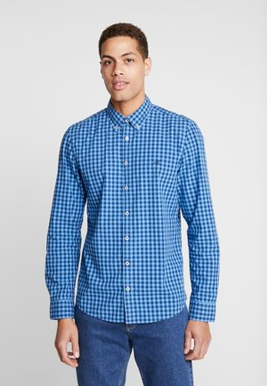 BUTTON DOWN LONG SLEEVE INSERTED - Shirt - blue