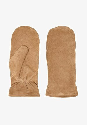 Rękawiczki z jednym palcem - cognac