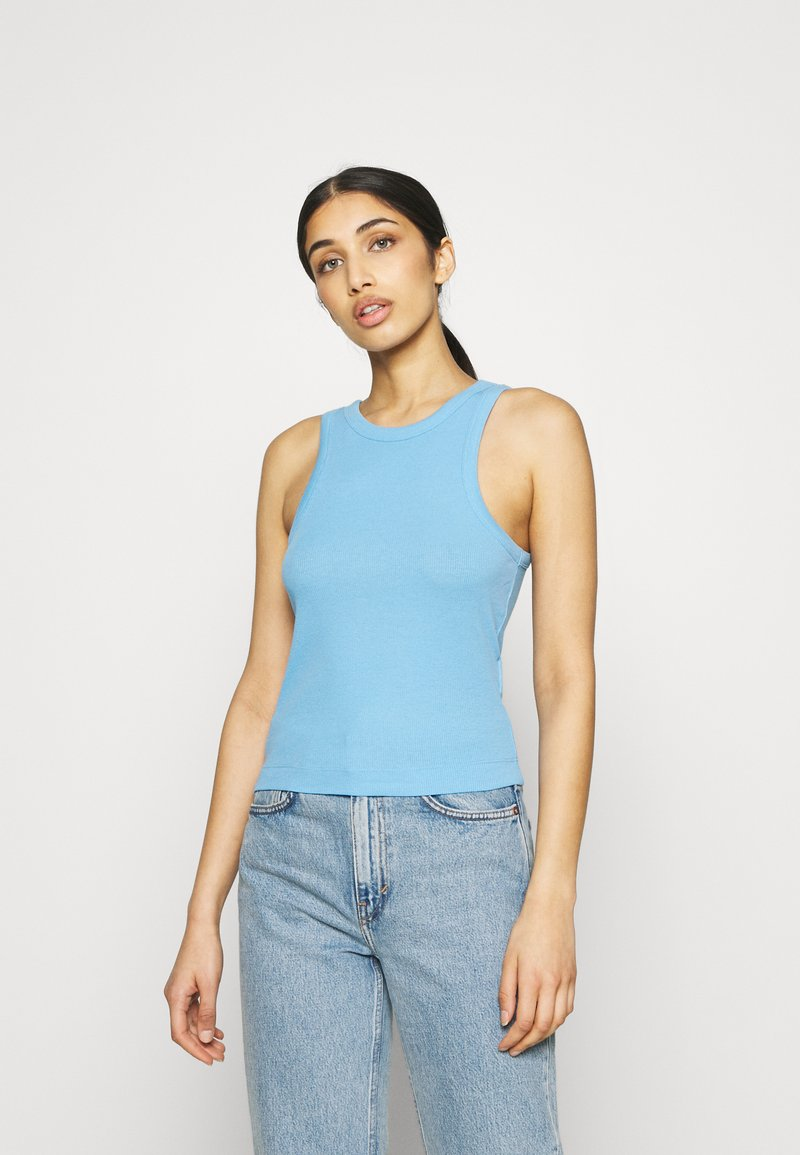 Pieces - PCTAYA CROPPED  - Top - little boy blue