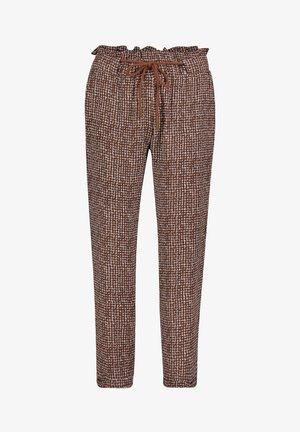 Trousers - weiß/braun