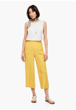 7/8 - Pantalon classique - yellow