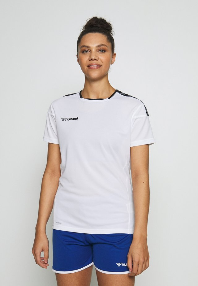 HMLAUTHENTIC  - T-shirts med print - white