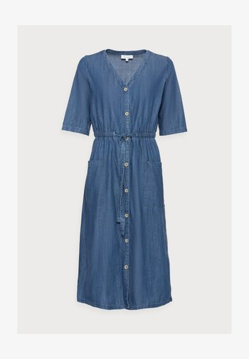 ESTHER TIE WAIST DRESS - Vestido vaquero - chambray blue