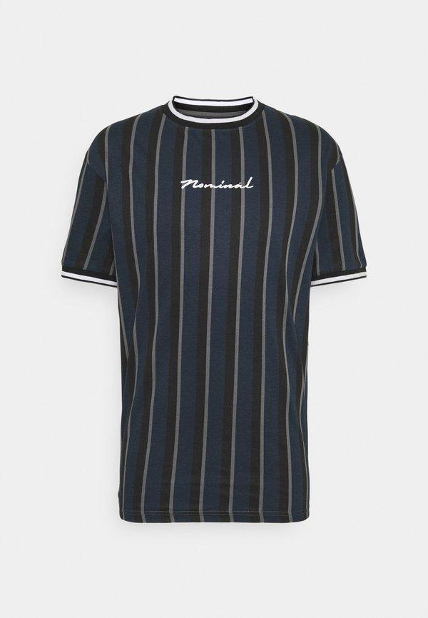 Nominal FINLEY - T-shirt z nadrukiem - navy/granatowy Odzież Męska MIPO