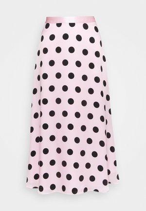 PENELOPE SKIRT - Áčková sukně - black / pink