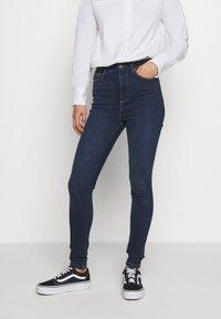 ONLY - ONYGOSH HIGHWAIST  - Jeans Skinny Fit - dark blue denim - 0