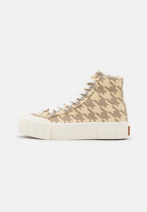 PALM DOGSTOOTH UNISEX - Sneakers hoog - oatmeal