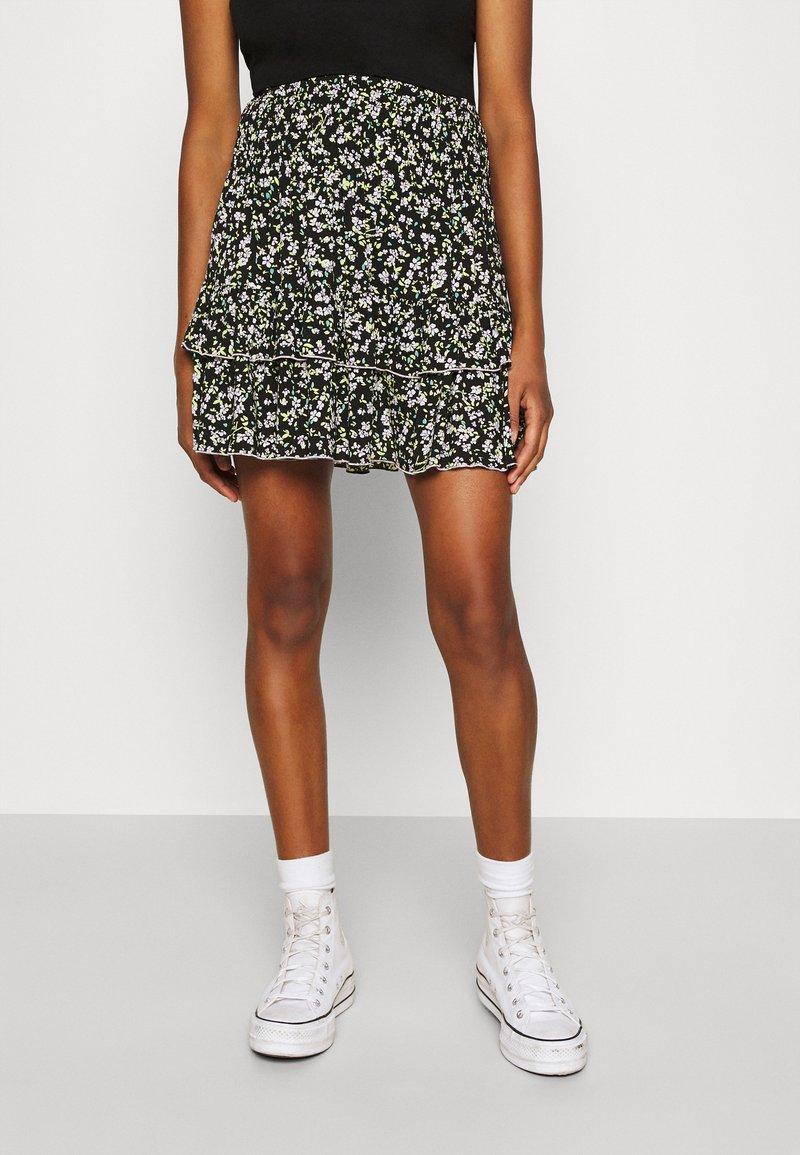 Tommy Jeans - TJW SMOCKED WAIST FLORAL SKIRT - Mini skirt - floral print