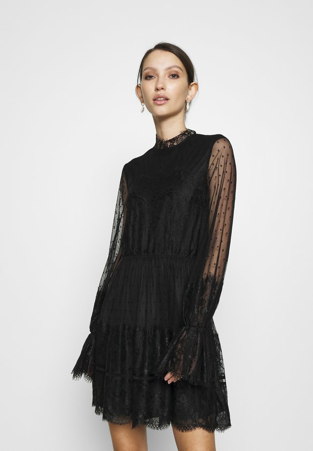 FRILL DRESS - Cocktail dress / Party dress - black