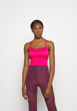 SEAMLESS STRAPPY CROP REMOVEABLE CUPS - Toppe - beetroot