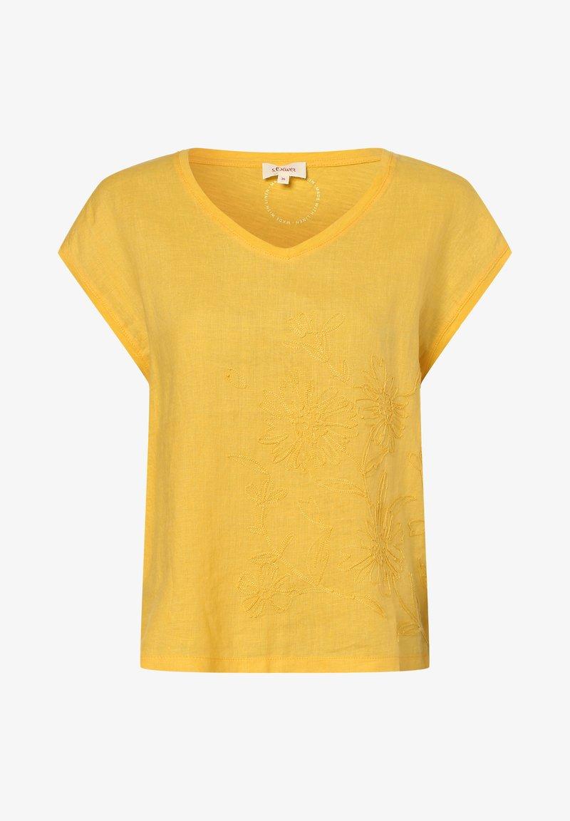 s.Oliver - Print T-shirt - gelb