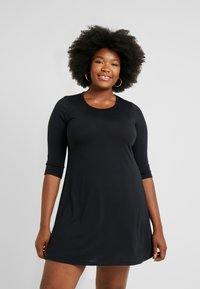 CAPSULE by Simply Be - LONG SLEEVE SWING DRESS - Jersey dress - black - 0