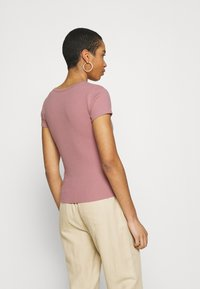 Abercrombie & Fitch - ICON HENLEY 3 PACK - T-shirt - bas - pink/white/navy - 3