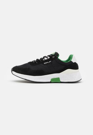 CLASSIC CHECK - Sneakers basse - black/white/green