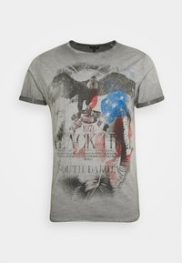 HILL ROUND - Print T-shirt - anthracite