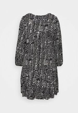 VNECK SMOCK DRESS - Vestido informal - mono brushstroke
