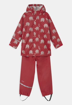 RAINWEAR ELEPHANT SET UNISEX - Rain trousers - rio red