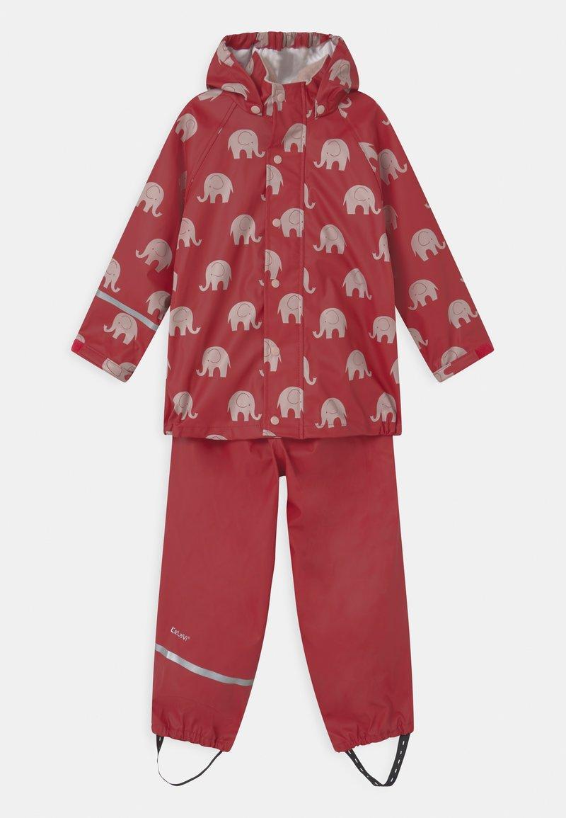 CeLaVi - RAINWEAR ELEPHANT SET UNISEX - Pantaloni impermeabili - rio red