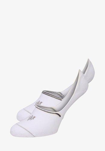 2 PACK - Trainer socks - weiß
