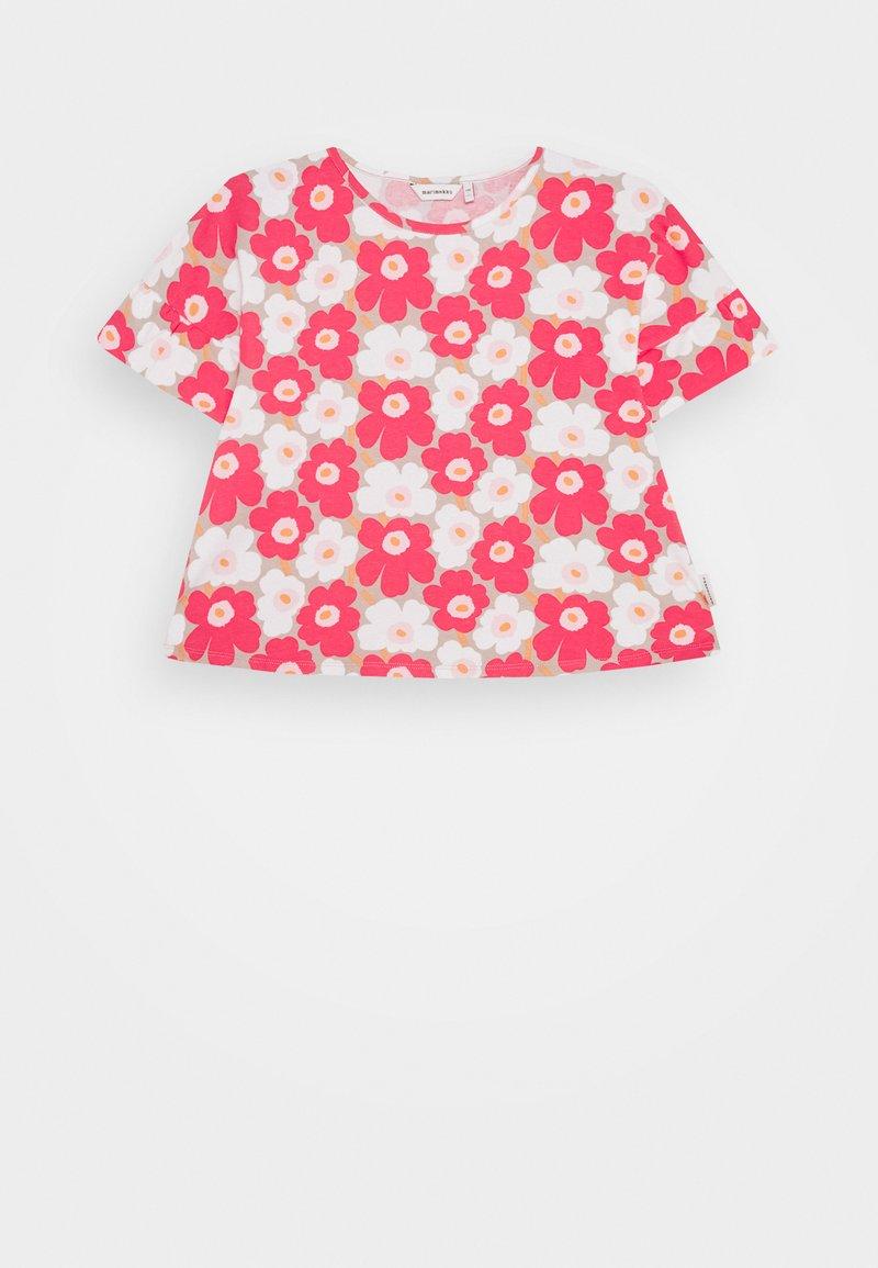 Marimekko - TELTTA UNIKKO - Jersey dress - beige/pink/white