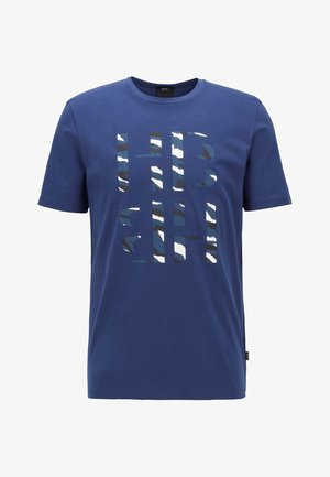 TESSLER - Print T-shirt - dark blue