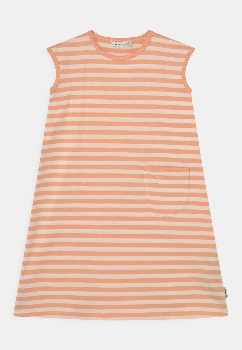 Marimekko - LUOSTOKKA TASARAITA - Jersey dress - off white/light apricot