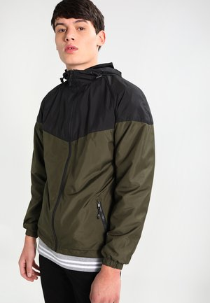 TONE TECH - Outdoor jacket - black/dark olive
