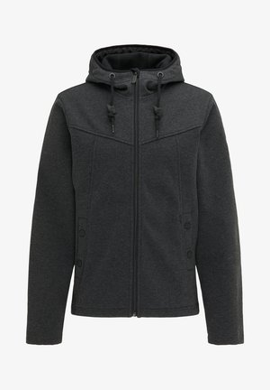 Outdoor jacket - dunkelgrau melange