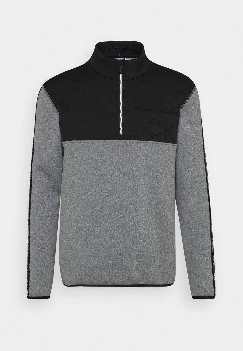 Calvin Klein Golf - DENALI HALF ZIP - Fleece jumper - grey marl