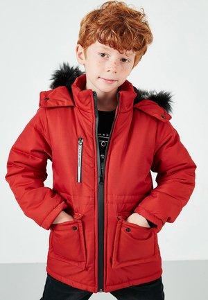 Winterjas - brick red