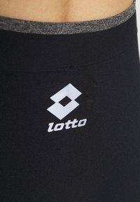 Lotto - VABENE PLUS LEGGING - Leggings - all black/iron gate - 4