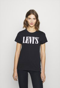 Levi's® - THE PERFECT TEE - T-shirt imprimé - caviar - 0