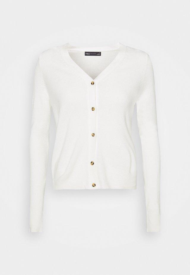 V CARDI - Chaqueta de punto - off-white