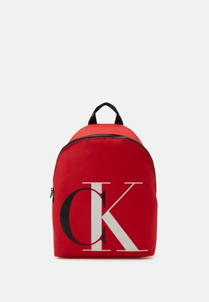 EXPLODED MONOGRAM BACKPACK - Mochila - red