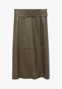 Violeta by Mango - OLIVE - Wrap skirt - olive - 4