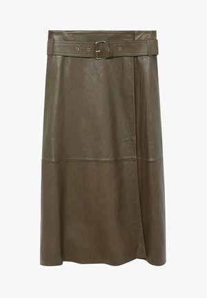 OLIVE - Zavinovací sukně - olive
