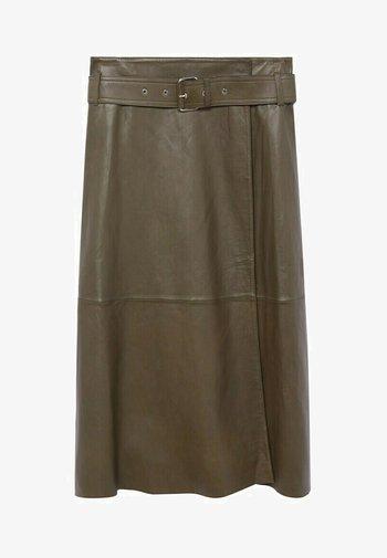 OLIVE - Wrap skirt - olive