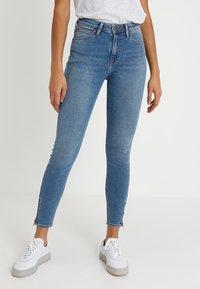 Lee - SCARLETT HIGH ZIP - Jeans Skinny Fit - blue aged - 0