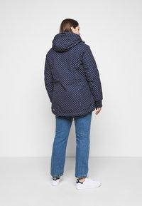 Ragwear Plus - DANKA DOTS - Zimní kabát - navy - 2