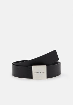 SQUARE PLAQUE UNISEX - Belt - black