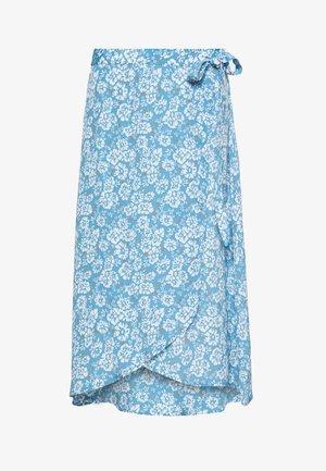 PCMAEVE HW WRAP MIDI SKIRT - Zavinovací sukně - lichen blue