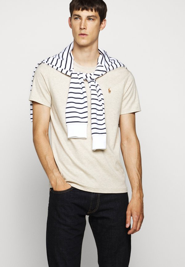 Polo Ralph Lauren PIMA - T-shirt basic - expedition dune/beżowy Odzież Męska HRGG