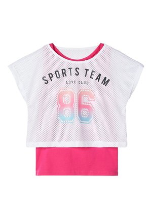 NAME IT SPORTTOP BEDRUCKTES - T-shirt print - bright white